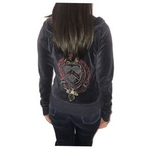 Juicy Couture 'Peace and Love' Navy blue jacket